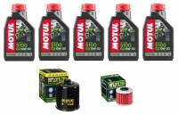 Tools, Stands, Supplies, & Fluids - Fluids - Motul - Motul 5100 Oil Change Kit: Africa Twin CRF1100L '20+