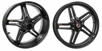 "BST Wheels - BST Rapid Tek Split Spoke Carbon Fiber Wheel Set [5.5"" Rear]: Ducati Sport Classic, GT1000, Paul Smart"