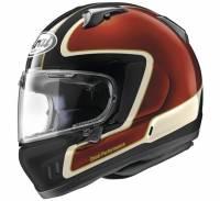 Arai - Arai Defiant-X Outline Helmet: Red/Black