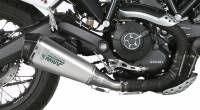 Mivv Exhaust - Mivv Delta Race Stainless Steel Slip-on Exhaust: Ducati Scrambler '15-'20