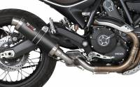 Mivv Exhaust - Mivv GP Carbon Fiber Slip-on Exhaust: Ducati Scrambler '15-'20