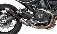 Mivv Exhaust - Mivv GP Black Stainless Slip-on Exhaust: Ducati Scrambler '15-'20