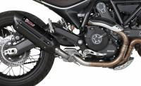 Mivv Exhaust - Mivv Suono Black Stainless Steel Slip-on Exhaust: Ducati Scrambler '15-'20