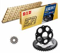 Drive Train - Rear Sprockets - SUPERLITE - SUPERLITE Quick Change 520 Lightweight Kit: Ducati Monster 1100, SF848, HM 821-939-950, MTS1000-1100, 848, S2R1000, S4RS, S4R [996]