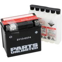 Parts Unlimited  - Parts Unlimited AGM Maintenance Free Battery: Yamaha WR250R '08-'16, Tenere 700