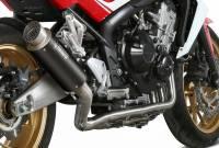 Mivv Exhaust - Mivv GP Pro Black Stainless Full Exhaust: Honda CB650F '14-'18