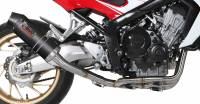 Mivv Exhaust - Mivv Oval Carbon Fiber Full Exhaust: Honda CB650F '14-'18
