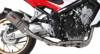 Mivv Exhaust - Mivv Oval Titanium Full Exhaust: Honda CB650F '14-'18