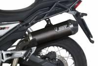 Mivv Exhaust - Mivv Oval Carbon Fiber Slip-on Exhaust: Moto Guzzi V85 TT