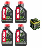 Tools, Stands, Supplies, & Fluids - Fluids - Motul - Motul 5100 Synthetic Blend 4T Oil Change Kit: Honda CB650F, CBR650F '14-'18
