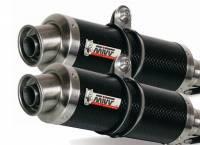 Mivv Exhaust - Mivv Homologated GP Carbon Slip-On Low Mount Exhaust: Ducati Monster 620