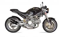 Mivv Exhaust - Mivv Homologated GP Black Steel Slip-On Low Mount Exhaust: Ducati Monster 620