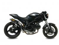 Mivv Exhaust - Mivv Homologated GP Carbon Slip-On High Mount Exhaust: Ducati Monster 620