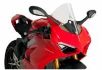 Body - Windscreens - Puig - Puig Racing Windscreen Ducati Panigale V4/S[Clear] '18-19