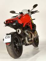 Spark - Spark Matte Carbon Fiber Racing Slip-on Exhaust with removable DB Killer: Ducati Monster 1200 [Made in Italy] '12-16' - Image 8