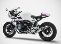 Exhaust - Headers - Zard - Zard Stainless GP Slip-On Exhaust: BMW R NineT '17+, Racer, Urban GS, Pure