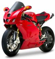 Body - Windscreens - Zero Gravity - ZERO GRAVITY ST Windscreen: Ducati 749/999 05-06 in Light Smoke [Open Box New With Very Minor Rubbing Marks] No return or exchange