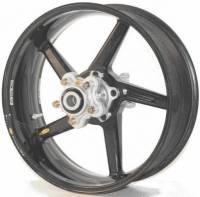 "BST Wheels - 5 Spoke Wheels - BST Wheels - BST Diamond Tek Carbon Fiber 6.0"" Rear Wheel: Bimota DB6"