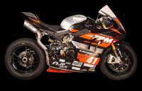 """Spark - SPARK DUCATI PANIGALE V4 R/S Titanium """"DOUBLE GRID-O"""" SEMI-FULL EXHAUST SYSTEM  Made in Italy"""