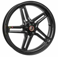 "BST Wheels - BST Rapid Tek Carbon Fiber 5 Split Spoke Wheel Set: Ducati Panigale 1199-1299-V4-V2, SF V4 [5.5"" Rear] - Image 2"