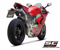 SC Project - SC Project CR-T Quarter Racing System Exhaust: Ducati Panigale V4/S/R