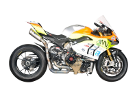 "Spark - Spark Ducati Panigale V4 S/R ""Double Grid-O"" Titanium Semi-Full Exhaust System"