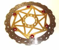Brake - Rotors - Braketech - BrakeTech AXIS Cobra Stainless Steel Series: 748-998, 851-888, SS, ST, Sport Classic, Monster [Pair] Gold Color Carriers!