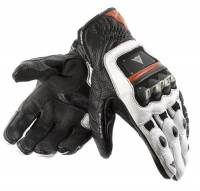Men's Apparel - Men's Gloves - DAINESE Closeout  - DAINESE 4-Stroke Gloves - Black/White/Lava-Red