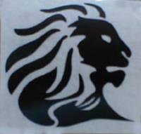 Aprilia Lion Head Sticker: 2.5 in