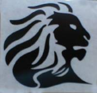 "Stickers - Aprilia Lion Head Sticker: 4""  White"