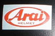 Stickers, Patches, & Toys - Stickers - Arai Sticker-Small [Red Only]