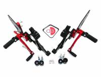 Ducabike - Ducabike Adjustable Rear Sets: M696 / M796 / M1100 - M1100 EVO [Folding Pegs/CF Heel guards]