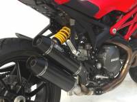 ZARD High Mount Side CF Slip-ons Homologated: M1100 EVO