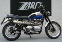 ZARD High Mount 2-1 SS/SS Full System: Triumph Scrambler Carburetor