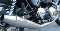 ZARD Low Mount 2-1 SS/SS Full System: Triumph Bonneville Injection
