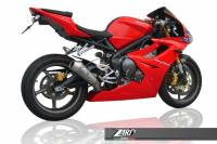 Exhaust - Full Systems - Zard - ZARD 3-1 Side Mount SS/SS Full System: Triumph Daytona 675