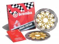 Brembo - BREMBO Supersport Rotor Kit:  [Ducati 5 Bolt 15MM Offset 330mm]  V4 /1299 / 1199, D16 & 1098 / 1198 / SF 1098 W/O Traction Control Triggers.