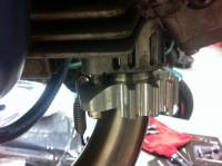 CORSE DYNAMICS Billet Exhaust Flanges: DUCATI 2V 1000 Motor with Zard Full System