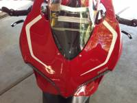 Ducati 1199 Panigale R Nose Sticker Kit: Solid [Red Only] - Image 2