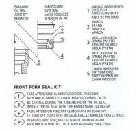 ATHENA Front Fork Seals [Ohlins Forks]: Ducati Streetfighter S, 1098 S/R-1198 S/R,  MTS1000S/1100S/1200S, Panigale 1199S/R, 1299 S, Panigale R