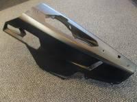 USED Ducati 848 OEM Belly Pan Set: Black Plastic