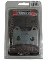 Ferodo - FERODO PLATINUM Front Organic Brake Pads: Brembo Dual Pin [Single Pack]