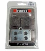 Ferodo - FERODO PLATINUM Organic Front Brake Pads: Brembo Single Pin [Single Pack]