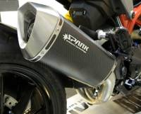 Spark Hypermotard 821 / Hyperstrada Low Mount Three Quarter Exhaust System: Carbon Fiber