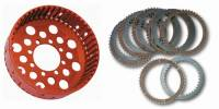 Clutch - Clutch Plates - STM - STM Ducati 48T Plates & Clutch Basket Set: Slipper Clutch Replacement [36.5mm Stack Height]