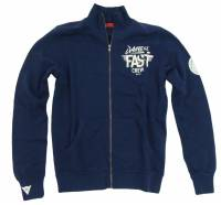 Men's Apparel - Men's Shirts - DAINESE Closeout  - DAINESE Felpa Fast Crew Full-Zip Jacket - Navy