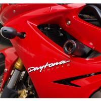 SPEEDYMOTO No-Cut Frame Sliders: Triumph Daytona 675/R / Street Triple